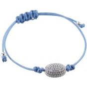 Armband Delicate Oval blau