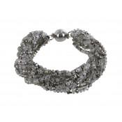 Armband | Taupe & Grau