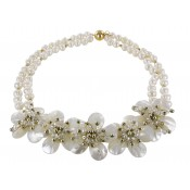 Halskette | Cream & Perlmutt