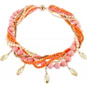 Halskette   Koralle & Terra