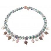 Halskette | Champagne & Kristall