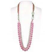 Halskette | Rosé & Fuchsia