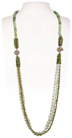 Halskette | Grün & Türkis