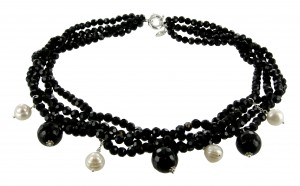 Halskette | Schwarz & Nachtblau