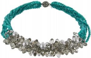 Halskette | Blau & Aqua