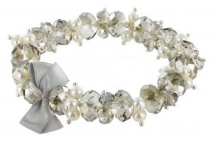 Armband Crystal Clear grau