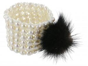 Armband Perle Nerzpompom