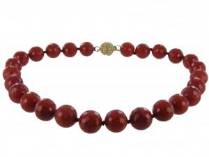 Halskette | Rubinrot & Purpur