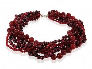 Halskette   Rubinrot & Purpur