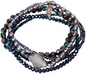 Armband | Schwarz & Nachtblau