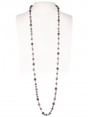 Halskette | Taupe & Grau