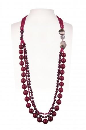 Halskette Lang | Rosé & Fuchsia