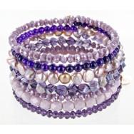 Armband   Lila & Lavendel