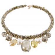Halskette | Mokka & Rauchquarz
