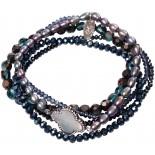 Armband | Zwart & Nachtblauw