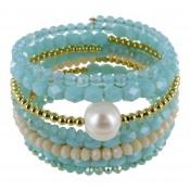 Armband | Blauw & Aqua