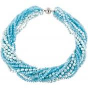 Halsketting | Blauw & Aqua