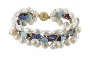 Armband   Blauw & Aqua