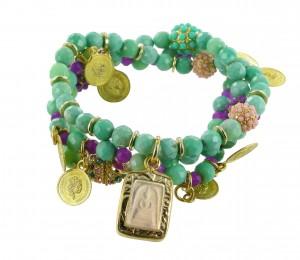 Armband   Groen & Turquoise