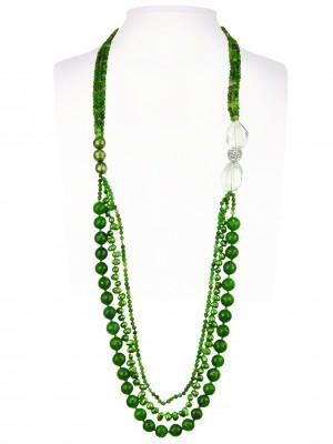Halsketting   Groen & Turquoise