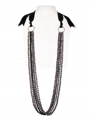 Halsketting   Zwart & Wit